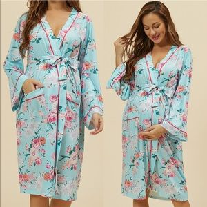 Maternity Floral Robe